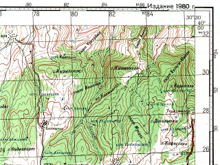 Reduced fragment of topographic map ru--gs--100k--j36-001--N040-00_E030-00--N039-40_E030-30; towns and cities Bozuyuk, Kumbet