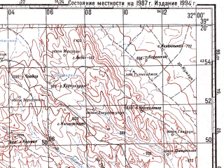 Reduced fragment of topographic map ru--gs--100k--j36-028--N039-20_E031-30--N039-00_E032-00