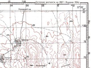 Reduced fragment of topographic map ru--gs--100k--j36-052--N038-40_E031-30--N038-20_E032-00