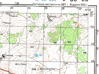 Reduced fragment of topographic map ru--gs--100k--j36-069--N038-20_E034-00--N038-00_E034-30