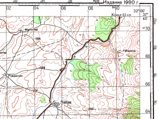Reduced fragment of topographic map ru--gs--100k--j36-088--N037-40_E031-30--N037-20_E032-00; towns and cities Seydisehir