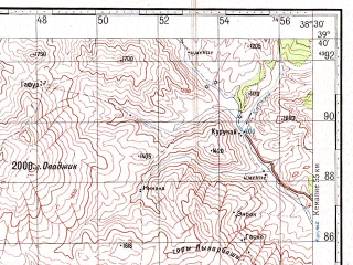 Reduced fragment of topographic map ru--gs--100k--j37-017--N039-40_E038-00--N039-20_E038-30; towns and cities Divrigi