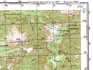Reduced fragment of topographic map ru--gs--100k--j37-109--N037-00_E036-00--N036-40_E036-30; towns and cities Dortyol