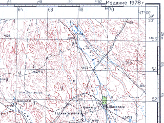 Reduced fragment of topographic map ru--gs--100k--j38-034--N039-20_E046-30--N039-00_E047-00; towns and cities Mamedbeyli, Zangelan, Khodzhakhan, Khanlyk