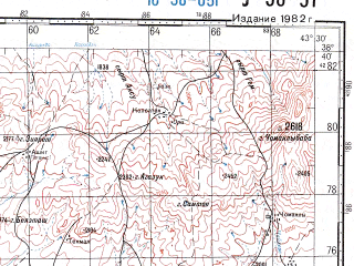 Reduced fragment of topographic map ru--gs--100k--j38-051--N038-40_E043-00--N038-20_E043-30; towns and cities Van