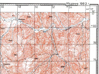 Reduced fragment of topographic map ru--gs--100k--j38-053--N038-40_E044-00--N038-20_E044-30; towns and cities Habashi Pa'in, Orenburc