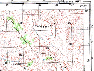 Reduced fragment of topographic map ru--gs--100k--j38-086--N037-40_E042-30--N037-20_E043-00; towns and cities Baglica