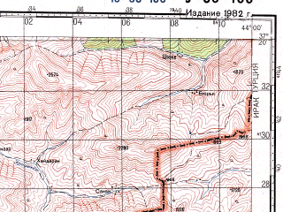 Reduced fragment of topographic map ru--gs--100k--j38-100--N037-20_E043-30--N037-00_E044-00; towns and cities Cukurca