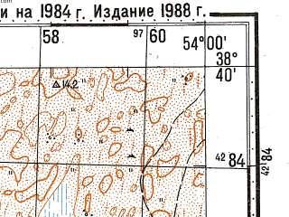 Reduced fragment of topographic map ru--gs--100k--j39-060--N038-40_E053-30--N038-20_E054-00