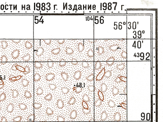 Reduced fragment of topographic map ru--gs--100k--j40-017--N039-40_E056-00--N039-20_E056-30; towns and cities Gyaur
