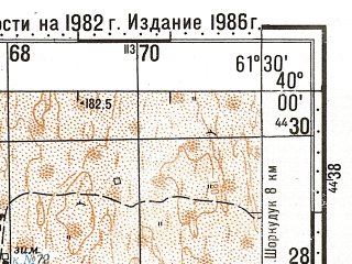 Reduced fragment of topographic map ru--gs--100k--j41-003--N040-00_E061-00--N039-40_E061-30