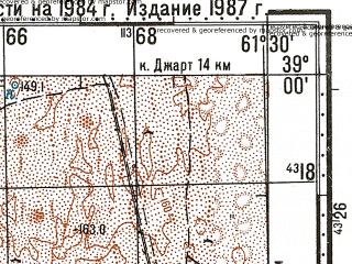 Reduced fragment of topographic map ru--gs--100k--j41-039--N039-00_E061-00--N038-40_E061-30