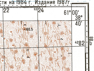 Reduced fragment of topographic map ru--gs--100k--j41-050--N038-40_E060-30--N038-20_E061-00