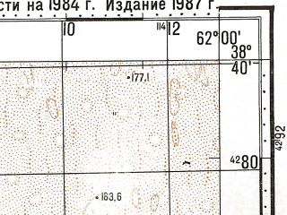 Reduced fragment of topographic map ru--gs--100k--j41-052--N038-40_E061-30--N038-20_E062-00