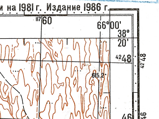 Reduced fragment of topographic map ru--gs--100k--j41-072--N038-20_E065-30--N038-00_E066-00; towns and cities Talimardzhan