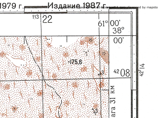 Reduced fragment of topographic map ru--gs--100k--j41-074--N038-00_E060-30--N037-40_E061-00