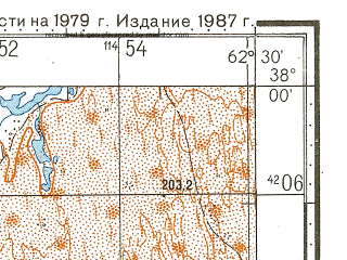 Reduced fragment of topographic map ru--gs--100k--j41-077--N038-00_E062-00--N037-40_E062-30; towns and cities Zakhmet