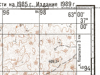 Reduced fragment of topographic map ru--gs--100k--j41-114--N037-00_E062-30--N036-40_E063-00