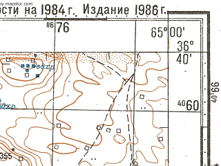 Reduced fragment of topographic map ru--gs--100k--j41-130--N036-40_E064-30--N036-20_E065-00