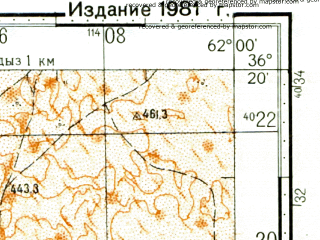 Reduced fragment of topographic map ru--gs--100k--j41-136--N036-20_E061-30--N036-00_E062-00