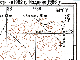 Reduced fragment of topographic map ru--gs--100k--j41-140--N036-20_E063-30--N036-00_E064-00