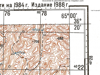 Reduced fragment of topographic map ru--gs--100k--j41-142--N036-20_E064-30--N036-00_E065-00