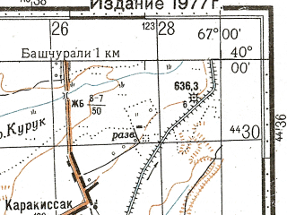 Reduced fragment of topographic map ru--gs--100k--j42-002--N040-00_E066-30--N039-40_E067-00; towns and cities Dzhuma, Superfosfatnyy, Narimanovka, Payaryk