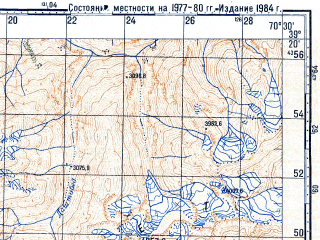 Reduced fragment of topographic map ru--gs--100k--j42-033--N039-20_E070-00--N039-00_E070-30; towns and cities Novabad, Garm