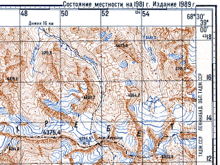 Reduced fragment of topographic map ru--gs--100k--j42-041--N039-00_E068-00--N038-40_E068-30