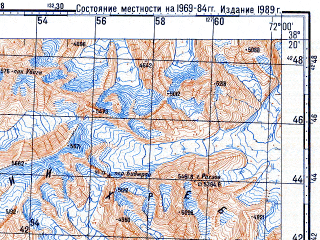 Reduced fragment of topographic map ru--gs--100k--j42-072--N038-20_E071-30--N038-00_E072-00