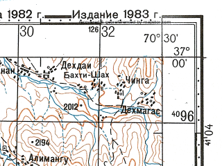 Reduced fragment of topographic map ru--gs--100k--j42-117--N037-00_E070-00--N036-40_E070-30