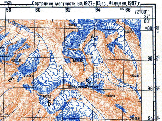 Reduced fragment of topographic map ru--gs--100k--j42-120--N037-00_E071-30--N036-40_E072-00