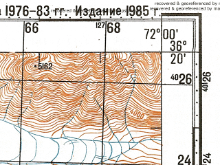Reduced fragment of topographic map ru--gs--100k--j42-144--N036-20_E071-30--N036-00_E072-00