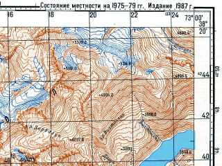 Reduced fragment of topographic map ru--gs--100k--j43-062--N038-20_E072-30--N038-00_E073-00