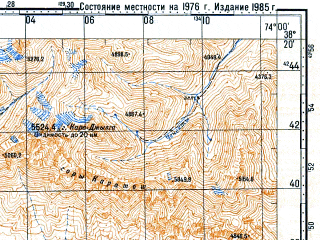 Reduced fragment of topographic map ru--gs--100k--j43-064--N038-20_E073-30--N038-00_E074-00