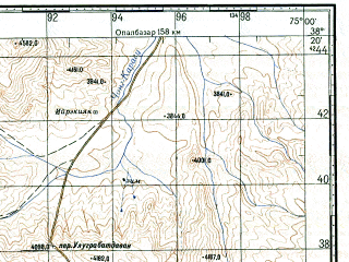 Reduced fragment of topographic map ru--gs--100k--j43-066--N038-20_E074-30--N038-00_E075-00