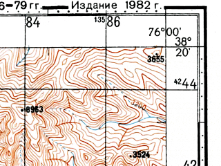 Reduced fragment of topographic map ru--gs--100k--j43-068--(1976)--N038-20_E075-30--N038-00_E076-00