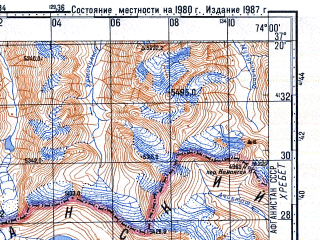 Reduced fragment of topographic map ru--gs--100k--j43-100--N037-20_E073-30--N037-00_E074-00