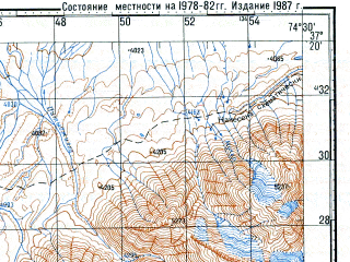 Reduced fragment of topographic map ru--gs--100k--j43-101--N037-20_E074-00--N037-00_E074-30