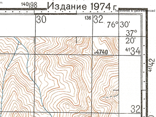 Reduced fragment of topographic map ru--gs--100k--j43-105--N037-20_E076-00--N037-00_E076-30