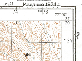Reduced fragment of topographic map ru--gs--100k--j43-106--N037-20_E076-30--N037-00_E077-00