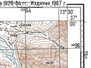 Reduced fragment of topographic map ru--gs--100k--j43-111--N037-00_E073-00--N036-40_E073-30