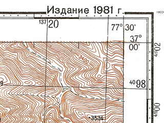 Reduced fragment of topographic map ru--gs--100k--j43-119--N037-00_E077-00--N036-40_E077-30