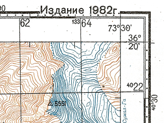 Reduced fragment of topographic map ru--gs--100k--j43-135--N036-20_E073-00--N036-00_E073-30