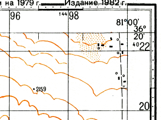 Reduced fragment of topographic map ru--gs--100k--j44-138--N036-20_E080-30--N036-00_E081-00