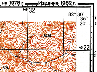 Reduced fragment of topographic map ru--gs--100k--j44-141--N036-20_E082-00--N036-00_E082-30