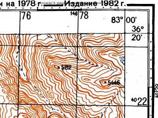 Reduced fragment of topographic map ru--gs--100k--j44-142--N036-20_E082-30--N036-00_E083-00