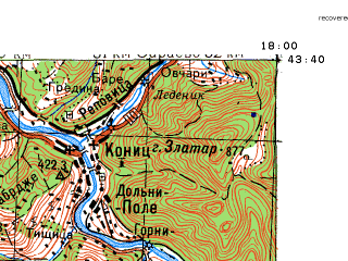 Reduced fragment of topographic map ru--gs--100k--k33-024--N043-40_E017-30--N043-20_E018-00; towns and cities Mostar, Jablanica, Konjic