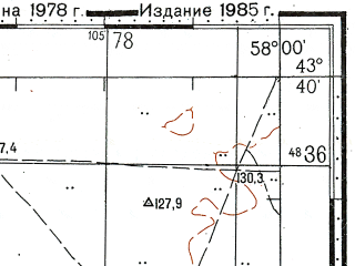 Reduced fragment of topographic map ru--gs--100k--k40-020--N043-40_E057-30--N043-20_E058-00