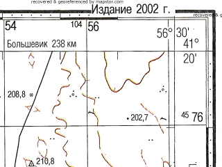 Reduced fragment of topographic map ru--gs--100k--k40-101--N041-20_E056-00--N041-00_E056-30